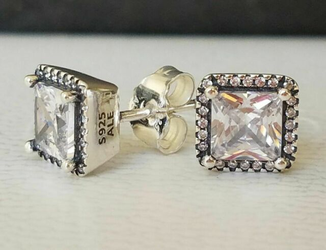Authentic Pandora Earrings Timeless Elegance  290591cz P