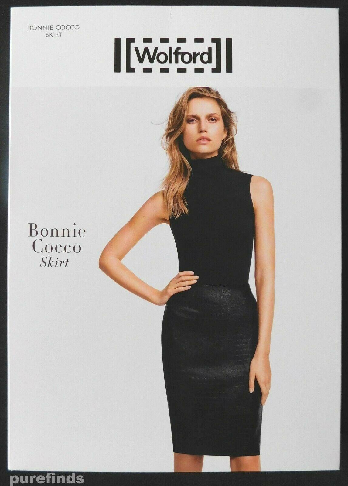 Wolford BONNIE Cocco Falda, imitación  de cuero, talla 36, 8, EE. UU. 6, Nuevo En Caja  respuestas rápidas