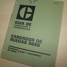 Spanish Espanol Caterpillar 988b Front End Wheel Loader Maintenance Manual Libro