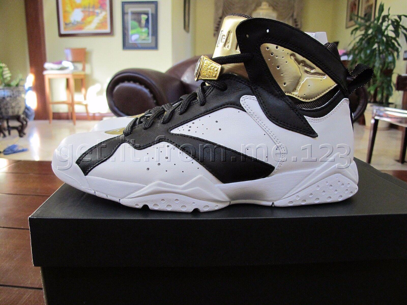 NIB Nike Air Jordan Retro VII 7 Gold C&C Champagne Size 9 Gold 7 White Black 725093 140 edfeae