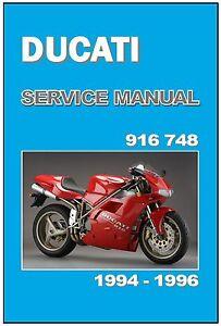 ducati workshop manual 916 748 1994 1995 1996 service repair rh ebay com ducati 748 owners manual ducati 748 workshop manual pdf