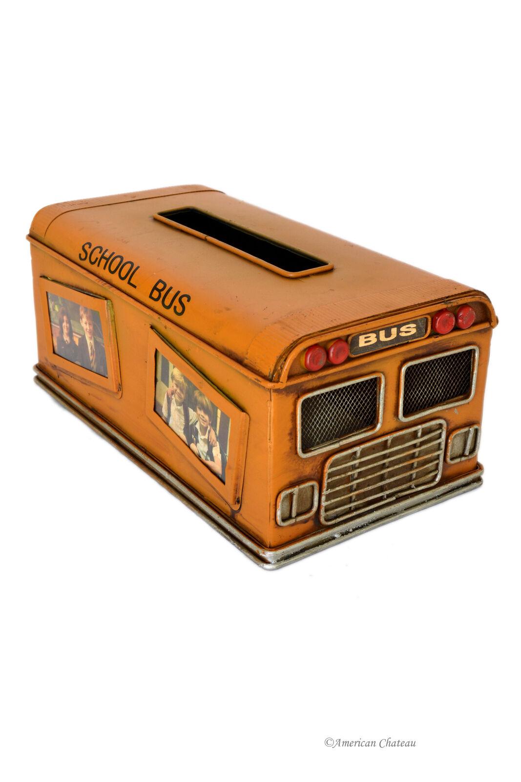 Vintage School Bus Kleenex Tissue Dispenser Box Startseite Holder w  Photo Frames