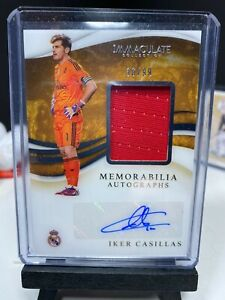 2020 Immaculate Soccer IKER CASILLAS Patch Autograph 36/99 Real Madrid AUTO