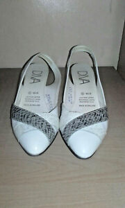 Diva-ladies-white-slingback-shoes-size-6