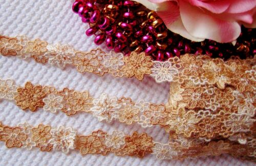 price for 1 yard 1//2 inch wide Very pretty multi-color floral  lace trim