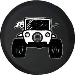 fits Jeep JL Spare Tire Cover Paw Print Dog Lover The Wave Offroad 4x4