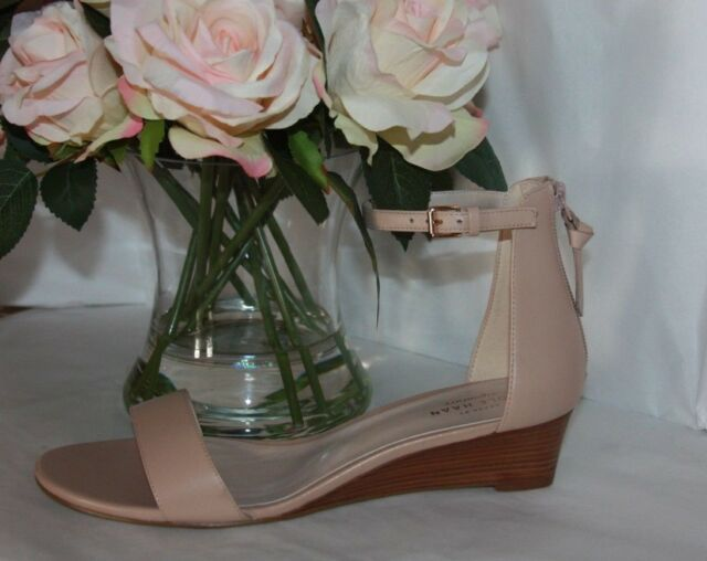 bd576cf380a Cole Haan Womens Nude Adderly Wedge Ankle Strap Sandals 9 B for sale ...