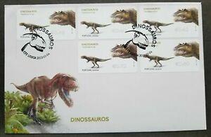 SJ-Portugal-Dinosaurs-Post-amp-Go-ATM-Pre-Historic-2015-frama-label-stamp-FDC