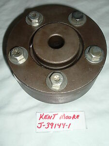 "KENT MOORE J-39144-1 BRAKE LATHE ROTOR ADAPTOR FOR 1"" LATHE ARBOR - USA MADE"
