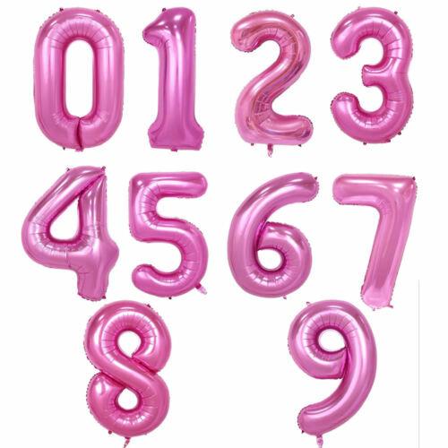 """32/"""" 40/"""" Giant Foil Numéro self gonflage ballons anniversaire âge Mariage Fête"""