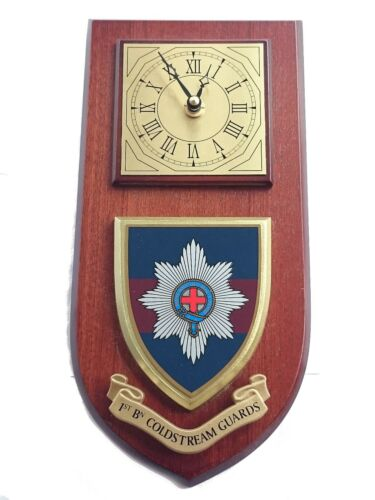1 st bn Coldstream Guards Military Shield Wall Plaque Clock