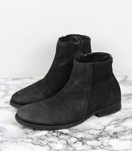 mens black nubuck boots