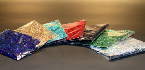 """of 7 colours .040/"""" Heat and Solvent Resistant Glitter .015/"""""""