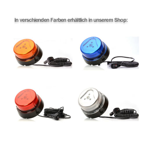 LED-MARTIN R65 Design Rundumkennleuchte klar//blau bis 250 km//h