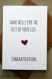 Funny greetings card engagement wedding humour banter image is loading funny greetings card engagement wedding humour banter funny m4hsunfo