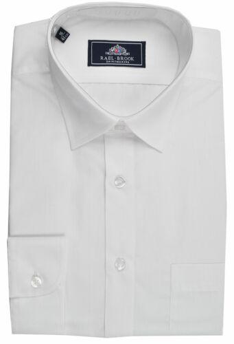 Rael Brook Mens Formal Extra Long Sleeved Dress Shirt in White