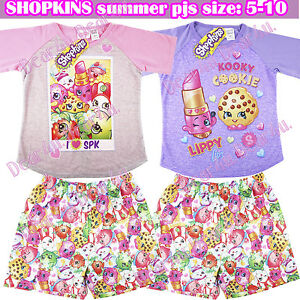 2b23e4fd0 SHOPKINS pyjama pyjamas pjs kids girls summer outfit set sleepwear ...