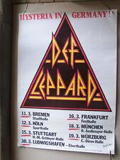 DEF LEPPARD,HYSTERIA IN GERMANY poster 60x83 cm m-/ gerollt