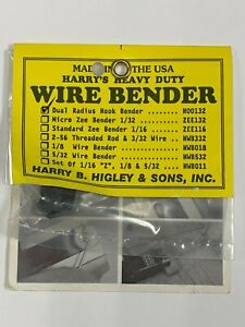 Harry Higley RC Remote Control Airplane Dual Radius Hook Wire Bender HOO132