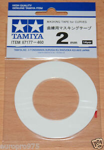 Tamiya-87177-Masking-Tape-for-Curves-2mm-Width-20m-Length-for-RC-Body-Shells