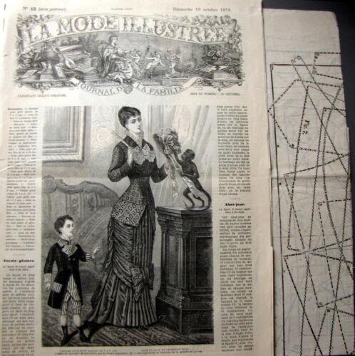 FRENCH PATTERN PATRON LA MODE ILLUSTREE n° 42//1879 Voir modèles à réaliser