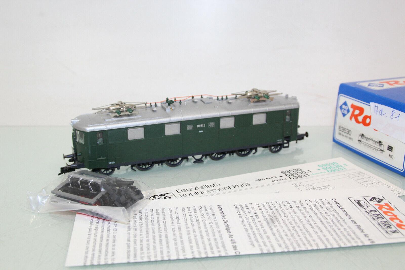 Roco H0 63530 E -Lok Ae 4  6 10812 der SBB Digital sehr gepflegt in OVP (SL9822)