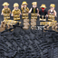 SET 6pcs Glorious Mission Army World War 2 Military Soldiers Lego Toys Custom