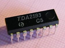 3x TDA2593 Synchro And Horizontal Deflection Control For Color TV Set, HFO