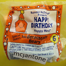 MIP McDonald's 1994 Happy Birthday Train BERENSTAIN BEAR Brother Sister SEESAW