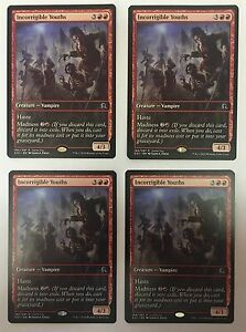 MTG-Magic-4x-INCORRIGIBLE-YOUTHS-Shadows-Over-Innistrad-Gameday-Promo-NM