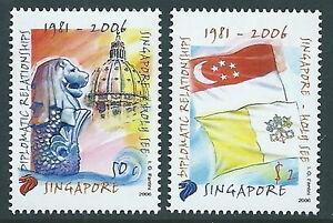 2006 Singapore Congiunta Vaticano Mnh ** - Ed CaractèRe Aromatique Et GoûT AgréAble