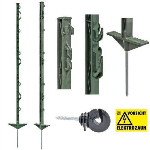 120x 105cm Weidezaunpfähle grün Weidezaunpfahl Koppelpfahl mit GRATIS Isolatoren