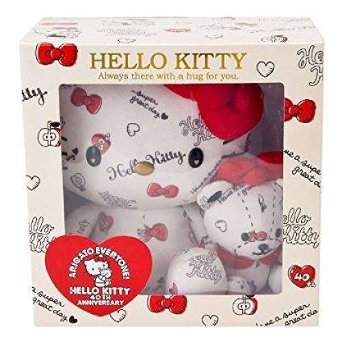 NYA Sanrio Hello Kitty Plush Doll (40th HUG) w  låda Kawaii RARE från japan F  S