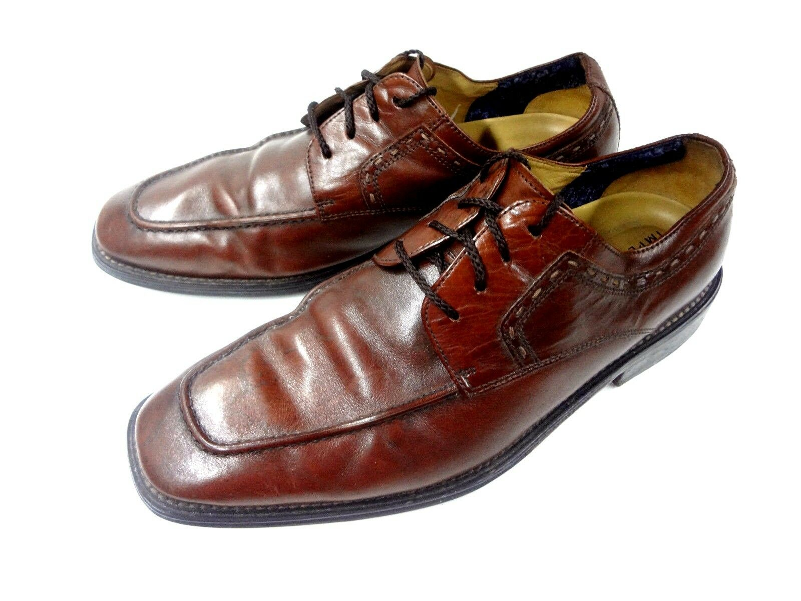 FLORSHEIM IMPERIAL OXFORD 10 D LACE UP DRESS BROWN LEATHER MENS SHOES