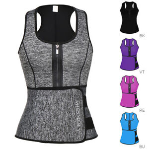 US-Women-Waist-Trainer-Vest-Gym-Slimming-Adjustable-Sauna-Sweat-Belt-Body-Shaper