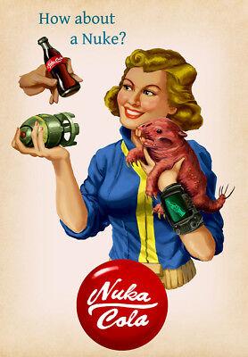 fallout poster 5 size 9.3X11.7/&11,7X16.5