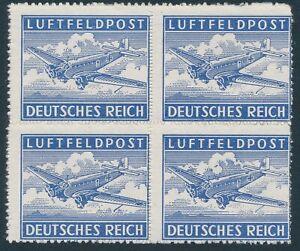 Stamp-Germany-Feldpost-Mi-1-Block-1942-WW2-Reich-Wehrmacht-War-Airplane-MNH