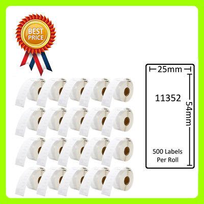 2 Rouleaux de 11352 étiquettes Compatible pour DYMO//Seiko 25 x 54 mm 500 étiquettes par rouleau