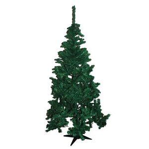 6ft traditional artificial green pine christmas tree bushy