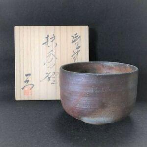 Japanese-bizen-ware-TEA-BOWL-chawan-Matcha-bowl-pottery-mitsuke-Fumio