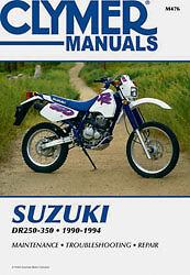 clymer repair manual fits suzuki dr350 dr350se dr250se dr250 dr350s rh ebay com suzuki dr 350 workshop manual pdf suzuki dr350 manual pdf