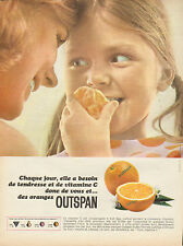 Publicité 1968  ORANGE OUTSPAN  vitamine C