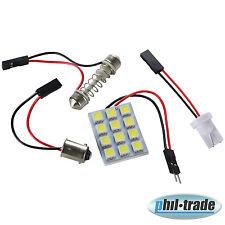 LED Panel 12 x 5050smd T10 Soffitte Sockel kalt weiß Innenraum Beleuchtung 12V