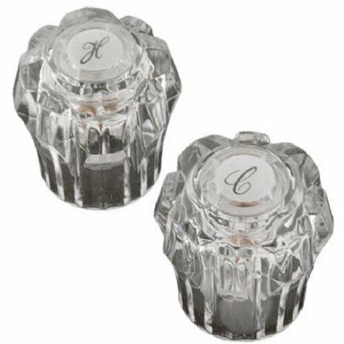 SH2955 BrassCraft Clear Hot//Cold Lavatory Handles for Sterling Faucets