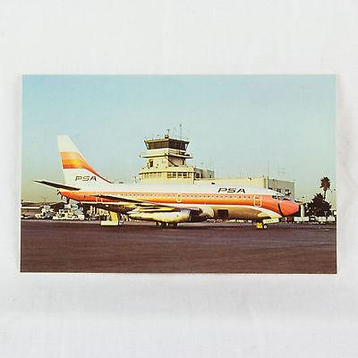 Psa Pacific Southwest Airlines - Boeing 737-200 - Aircraft Postcard - Mint