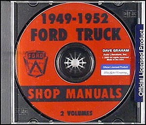ford pickup and truck cd shop manual 1949 1950 1951 1952 repair rh ebay com 1948 Ford F1 1949 Ford F1