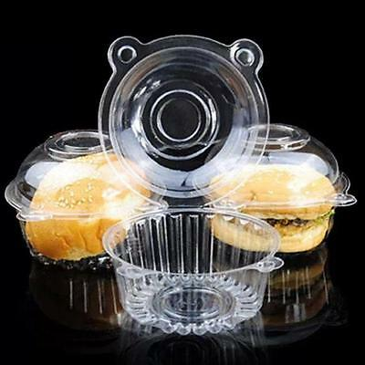 Cup a Cake Clear Pod Muffin Container Individual CupCake Plastic Dome Box