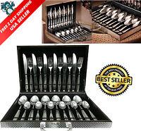 Silverware Box Set 24pcs High Quality Stainless Steel Flatware Tableware Cutlery