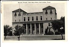 1946 The Masonic Temple, Lake Shore Drive in Port Arthur, TX Texas PC
