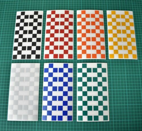 Hi Vis Reflective Chequered Pattern Decal Sticker Set Motorbike Safety